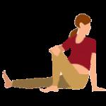 Alltags-Yoga Schwangerschaft Drehsitz Ardha Matsyendrasana