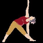 Alltags-Yoga Schwangerschaft Dreieck Utthita Trikonasana