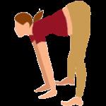 Alltags-Yoga Schwangerschaft Halbe-Vorbeuge