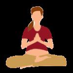 Alltags-Yoga Schwangerschaft Halber Lotussitz