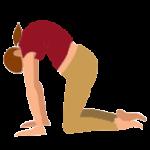 Alltags-Yoga Schwangerschaft Katze Majariasana