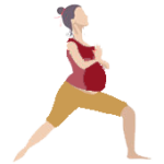 Alltags-Yoga Schwangerschaft Krieger-Virabhadrasana 1