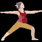 Alltags-Yoga Schwangerschaft Krieger-Virabhadrasana 2