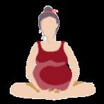 Alltags-Yoga Schwangerschaft Meditationssitz