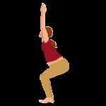 Alltags-Yoga Schwangerschaft Stuhl Utkatasana